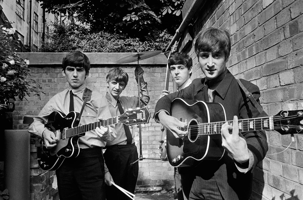 The Beatles at Abbey Road studio (London, 1963)