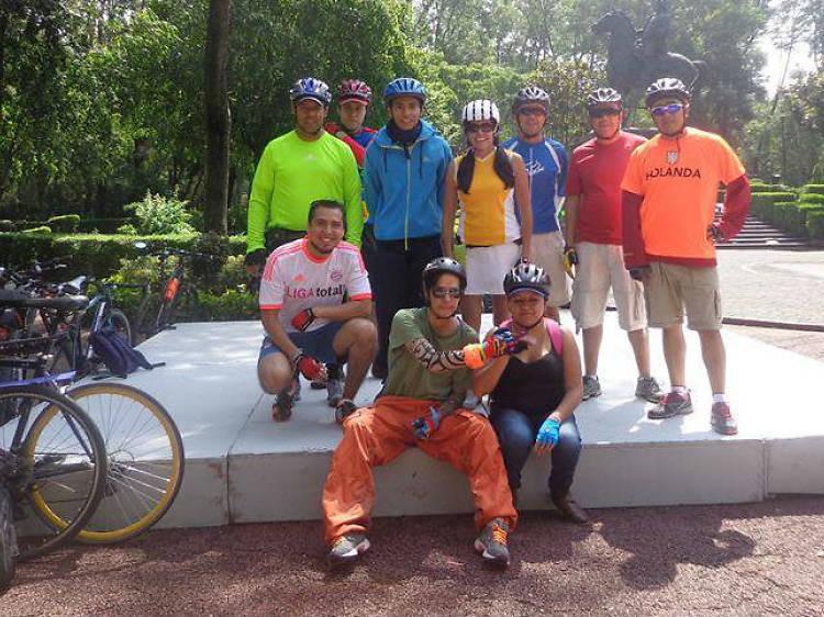 Ciclistas solteros en la Ciudad de México