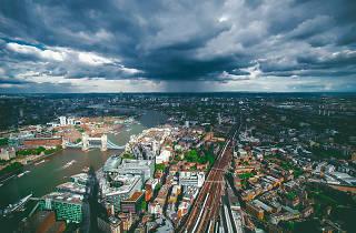 Dark clouds loom over Bermondsey.