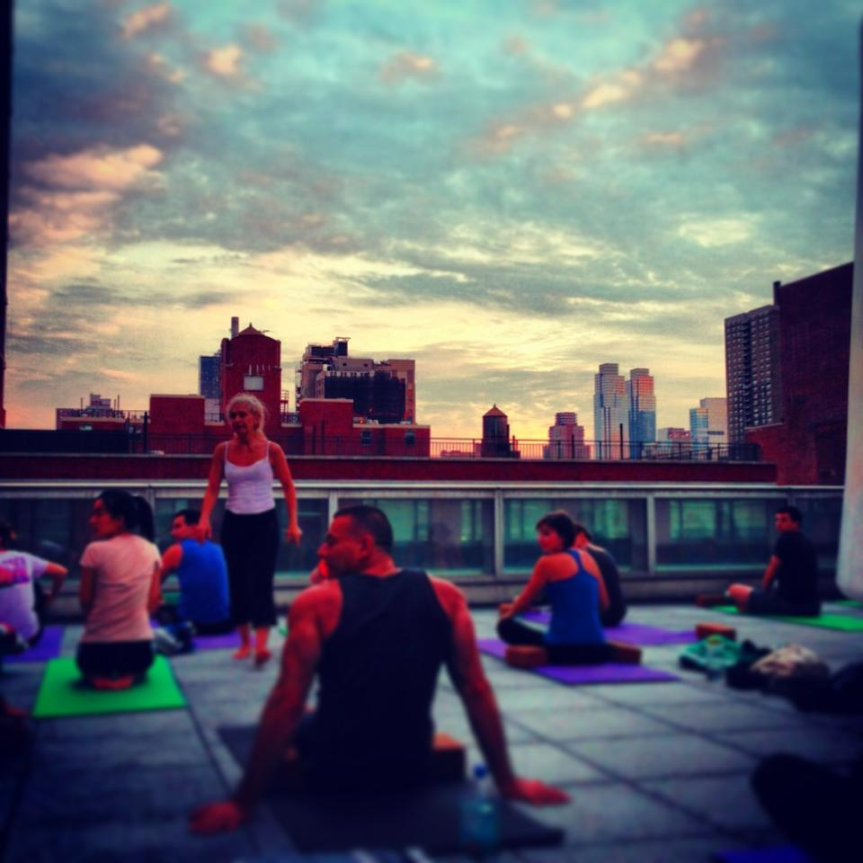 The Ailey Extension Outdoor Yoga Class
