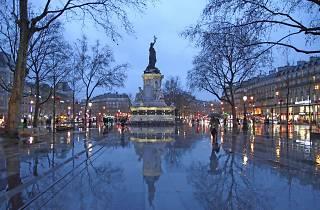 Pluie paris République