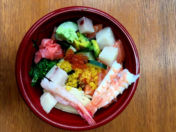 Bara chirashi, $8.80-$15.80 at The TuckerBox Lunch