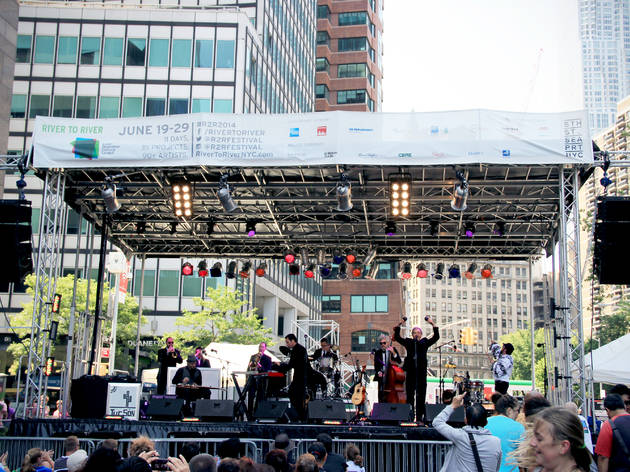More than 100 free concerts are coming to the NYC waterfront this June for River to River Fest
