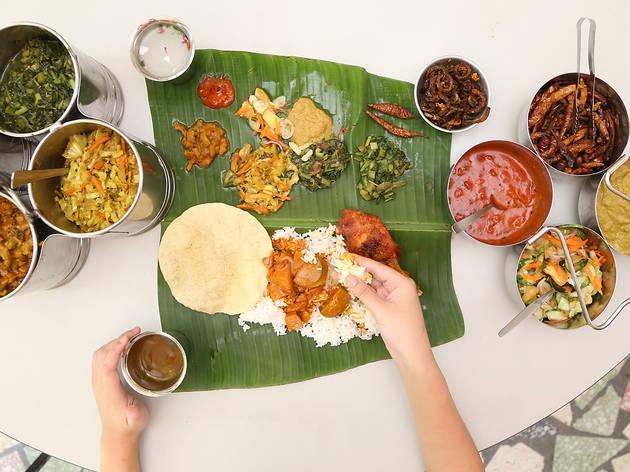 Universiti Malaya Academic Club banana leaf rice