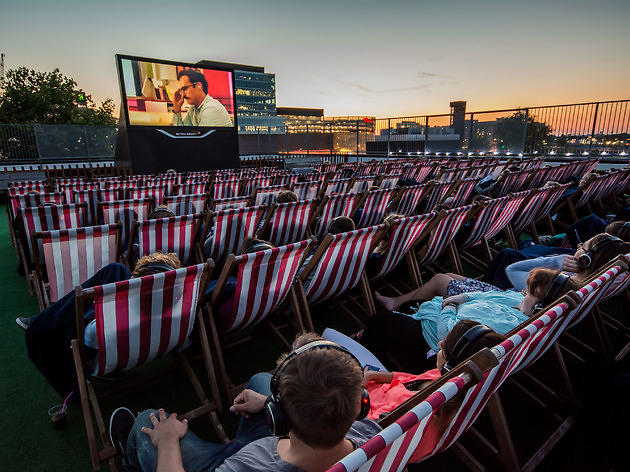 Lay back and watch a movie with outdoor movie screening