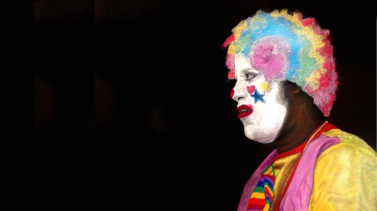 SmileyCyrus, clown, art