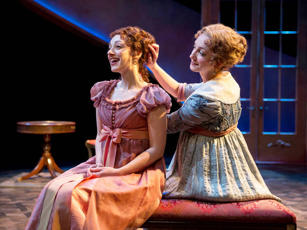 Megan McGinnis and Sharon Rietkerk in Sense and Sensibility at Chicago Shakespeare Theater