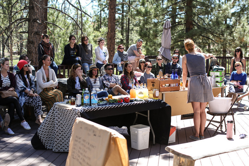CAMP participants combine workshops and panels with unplugging in the woods