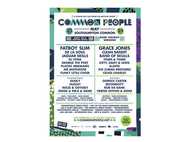 Common People festival poster 2015