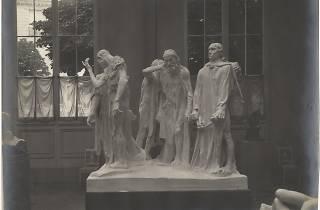 (Eugène Druet, 'Burghers of Calais' by Rodin)