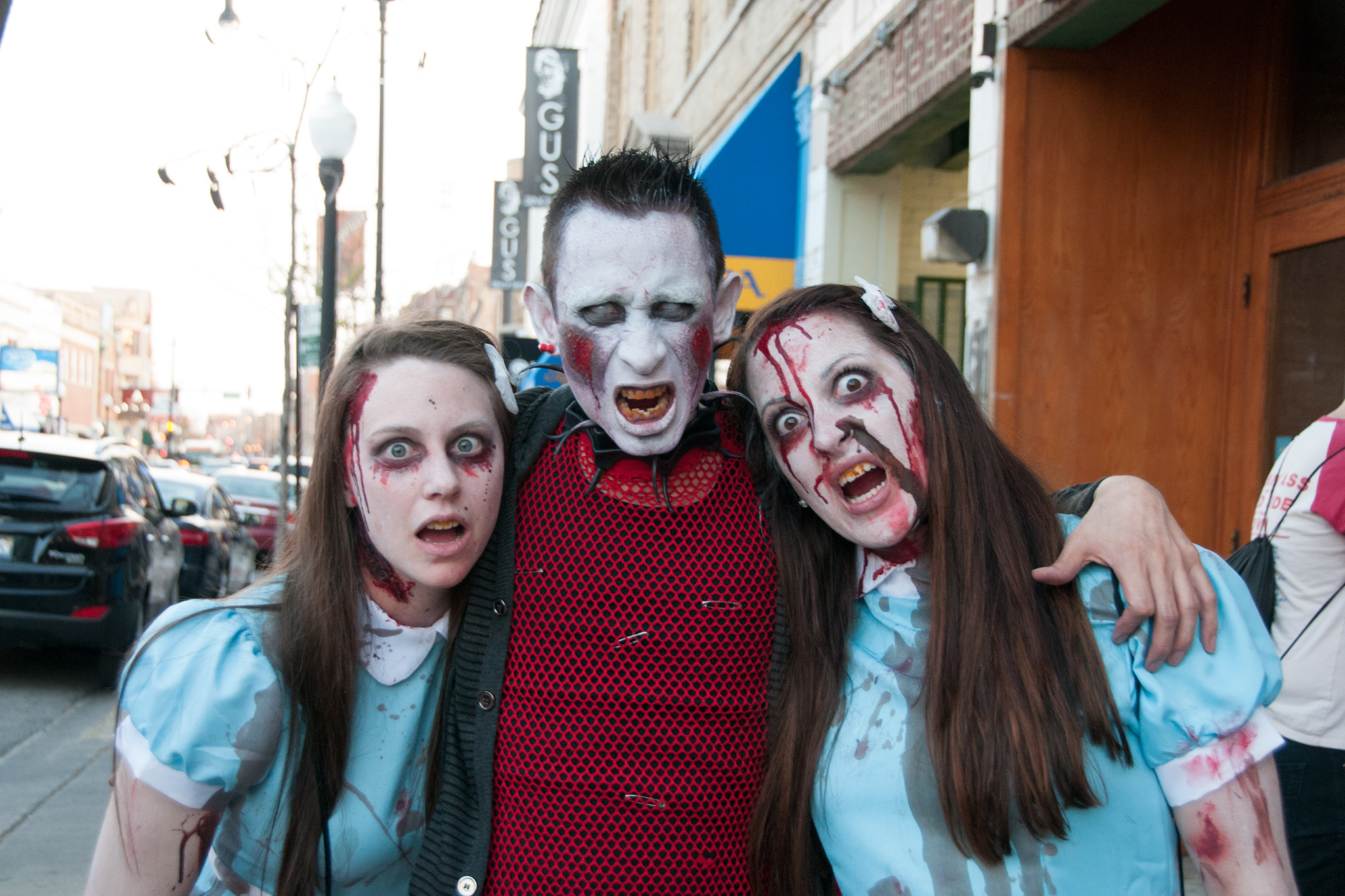 The undead shamble through the streets and bars of Andersonville during the Chicago Zombie Pub Crawl, May 2, 2015