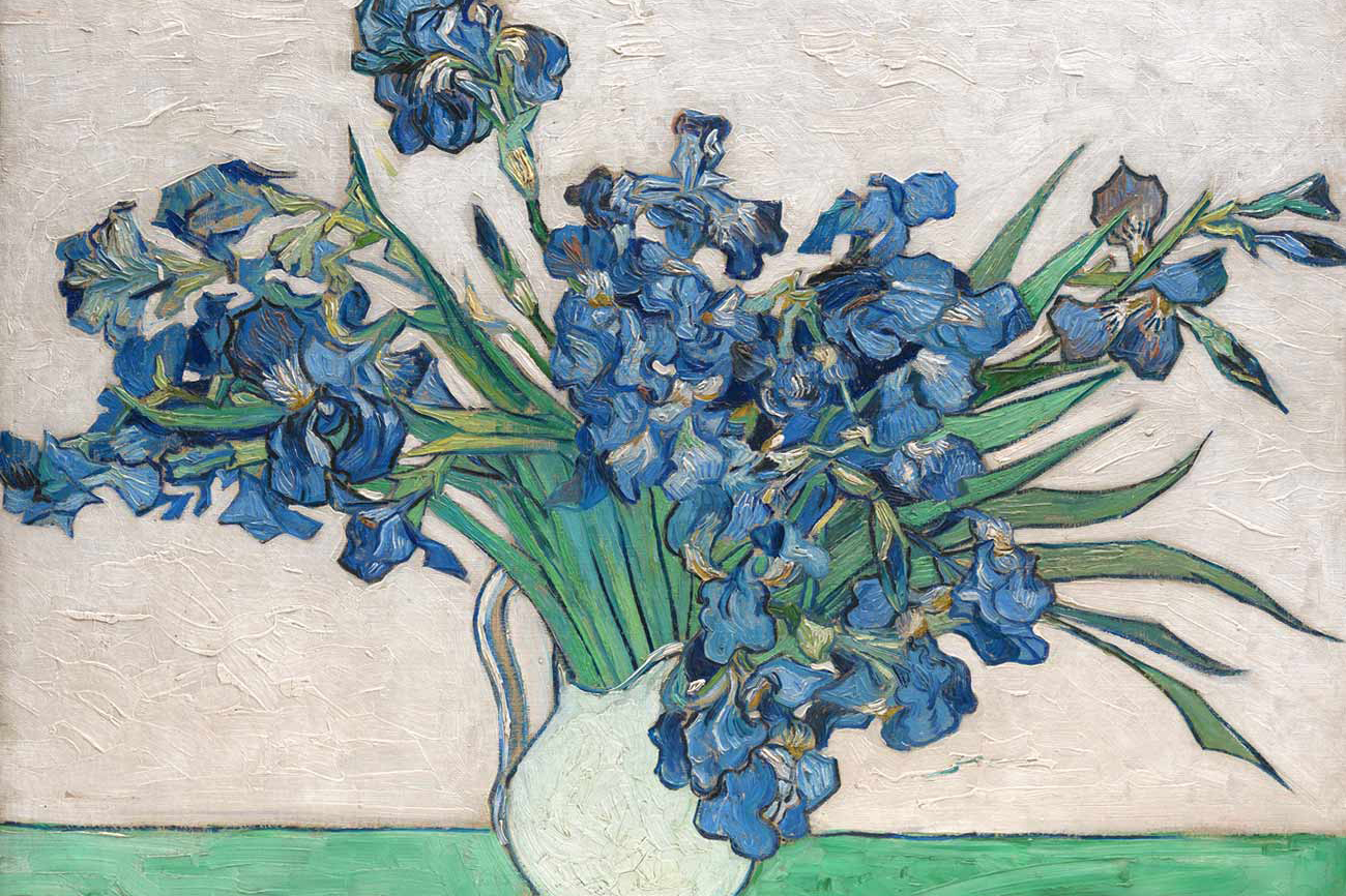 """Van Gogh: Irises and Roses"""
