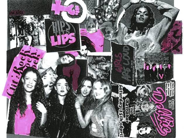 Girls to the front club nights collage