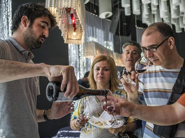 Catalan wines and cheeses, and art