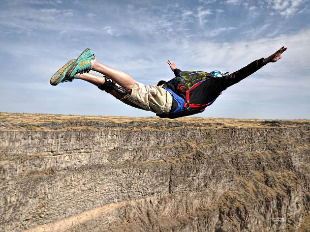 BASE jump off Perrine Bridge in Twin Falls, Idaho