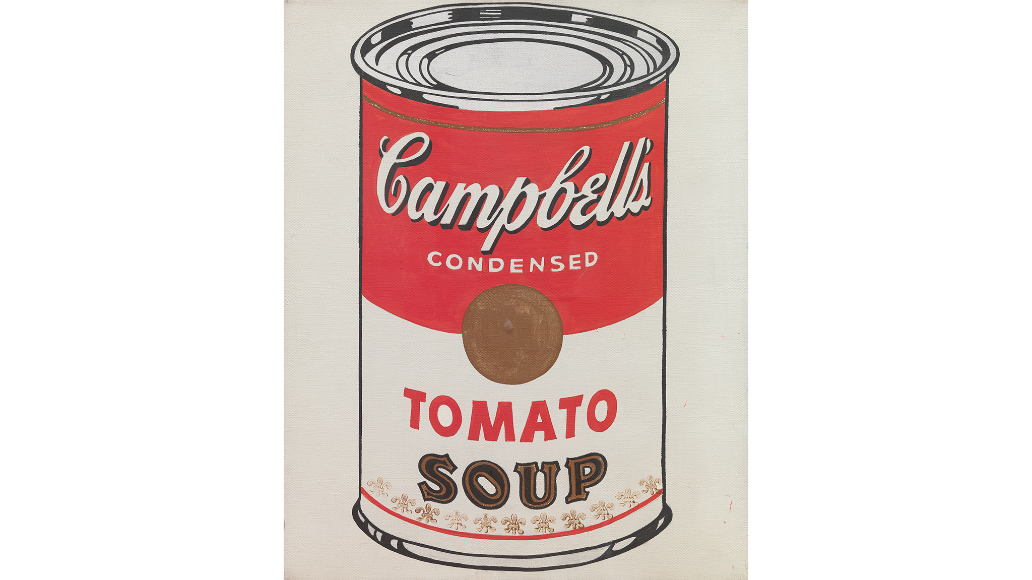 Andy Warhol,  Campbell's Soup Cans, 1962, detail