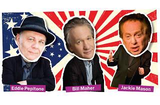 Eddie Pepitone, Bill Maher and Jackie Mason