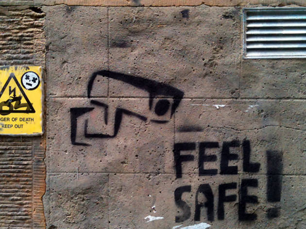 edinburgh street art cctv