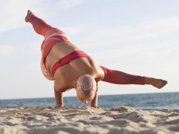 OMbeach Benefit Yoga Class