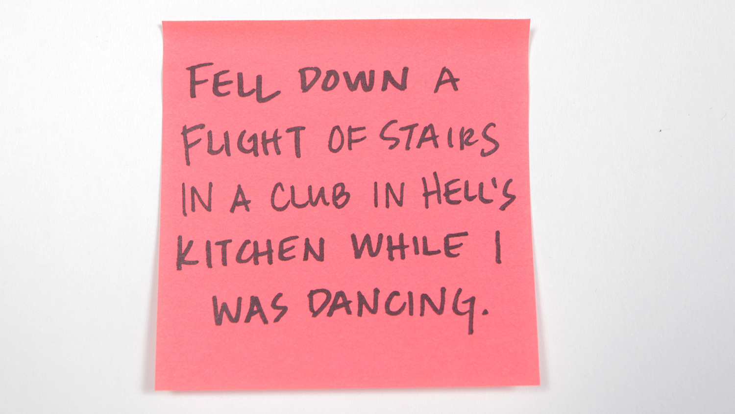Sticky-note confessions: New Yorkers share the dumbest injury they've ever had