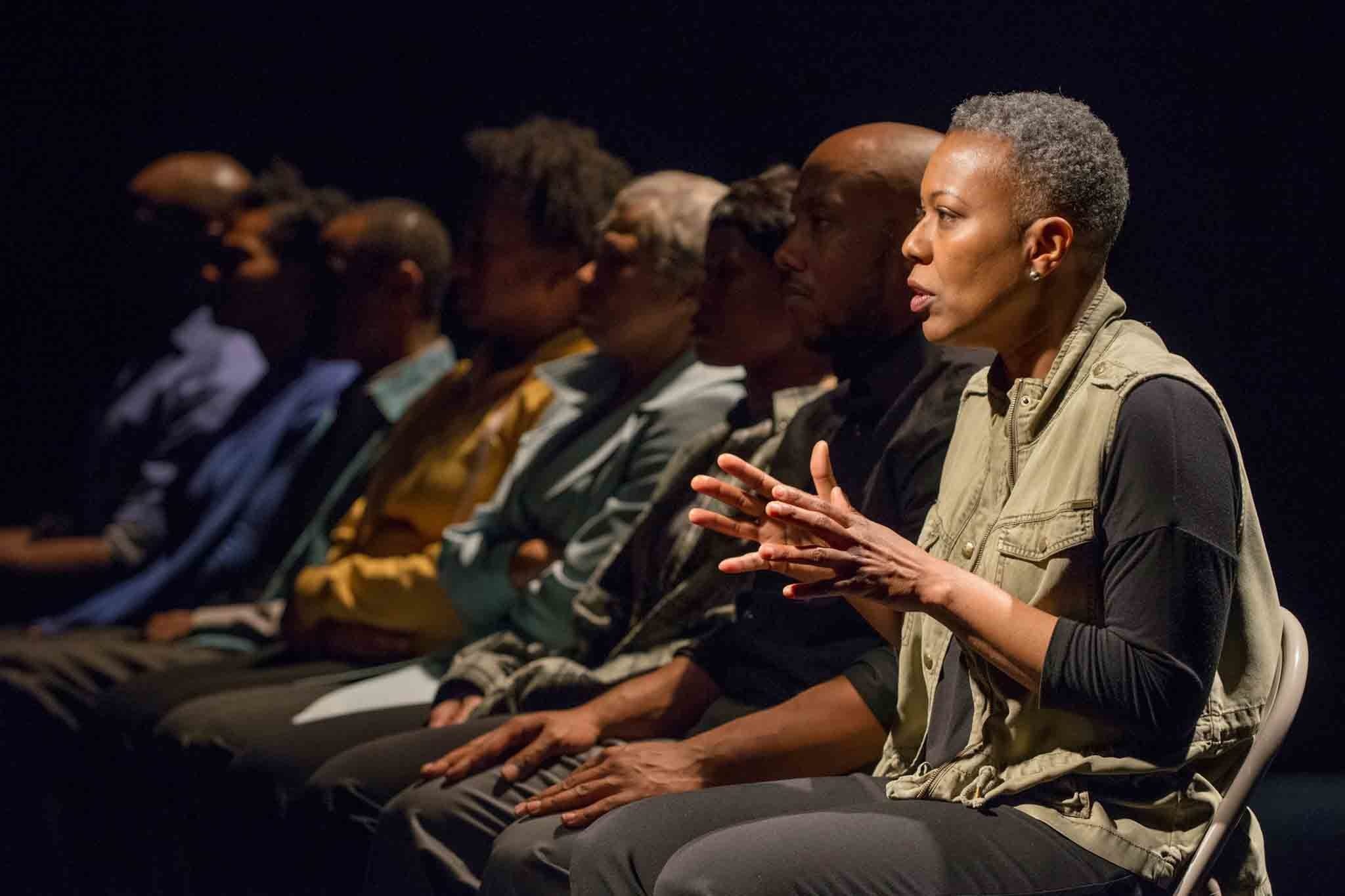 Penelope Walker and the company of The Project(s) at American Theater Company