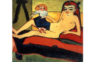 Erich Heckel, Girl with Doll (Fränzi), 1910