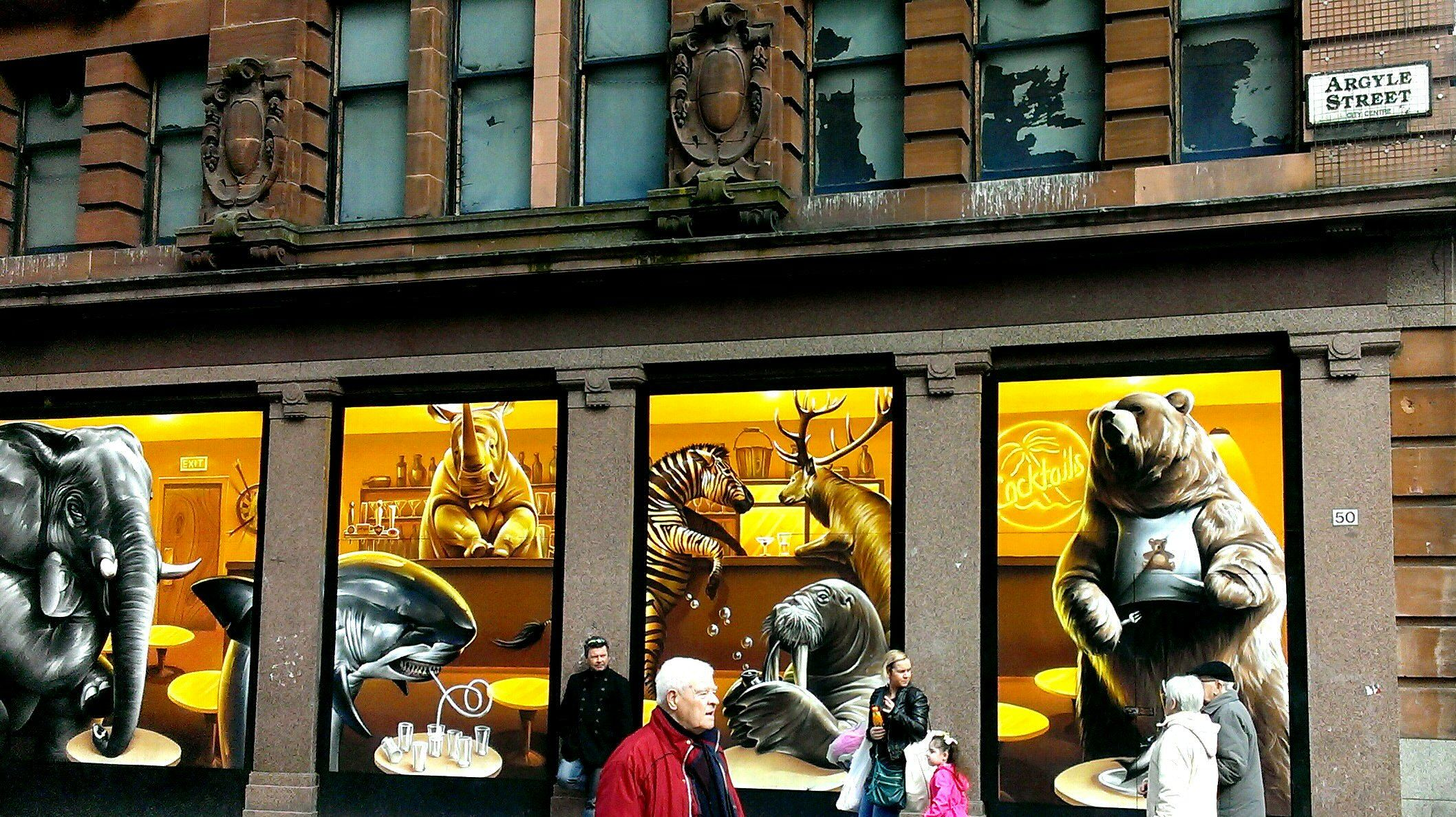 Glasgow street art Argyle Street