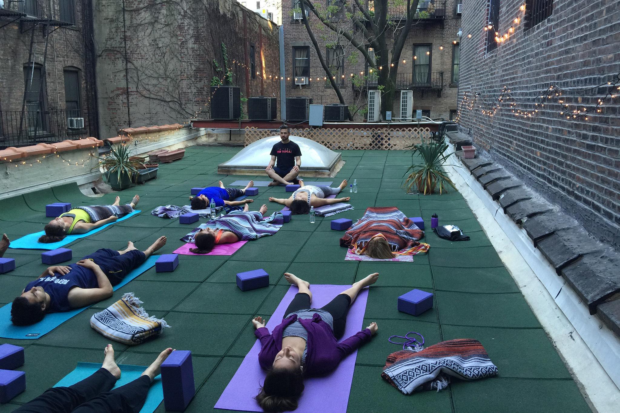 Roofdeck Yoga at Yo Yoga!