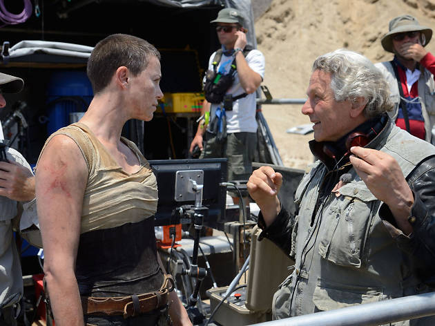 Actress Charlize Theron and director George Miller