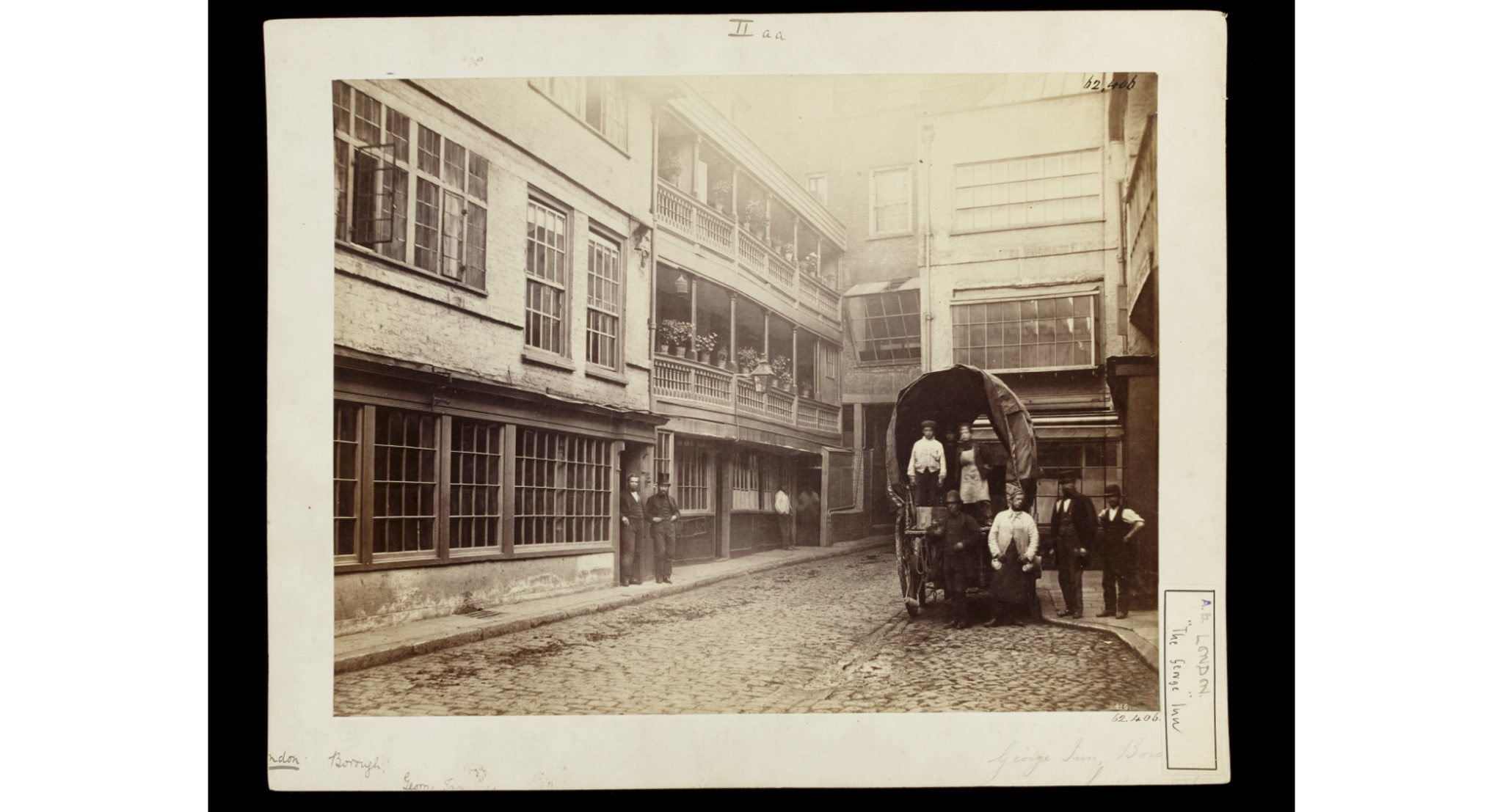(William Strudwick, The George Inn, Borough, London, about 1865. © V&A)