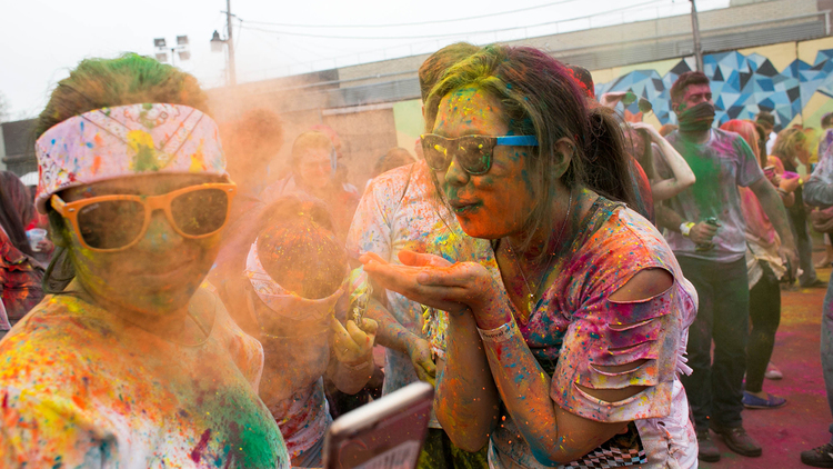 Check out the multi-colored fun at this year's Holi party