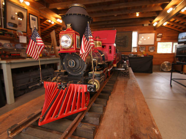 Once a month, you can visit the barn where Walt Disney worked on his pre-Disneyland railroad