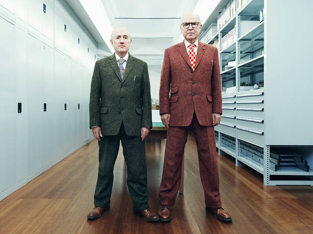 <p>Gilbert and George at their home studio in East London</p>
