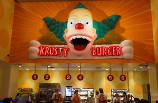 Krusty Burger restaurant at Universal Studios' Springfield
