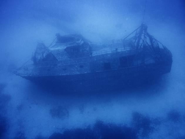 The shipwreck of the 20-metre-long (66 ft) fishing boat that sunk off the coast of the Italian island of Lampedusa on 3 October 2013, killing 366 migrants
