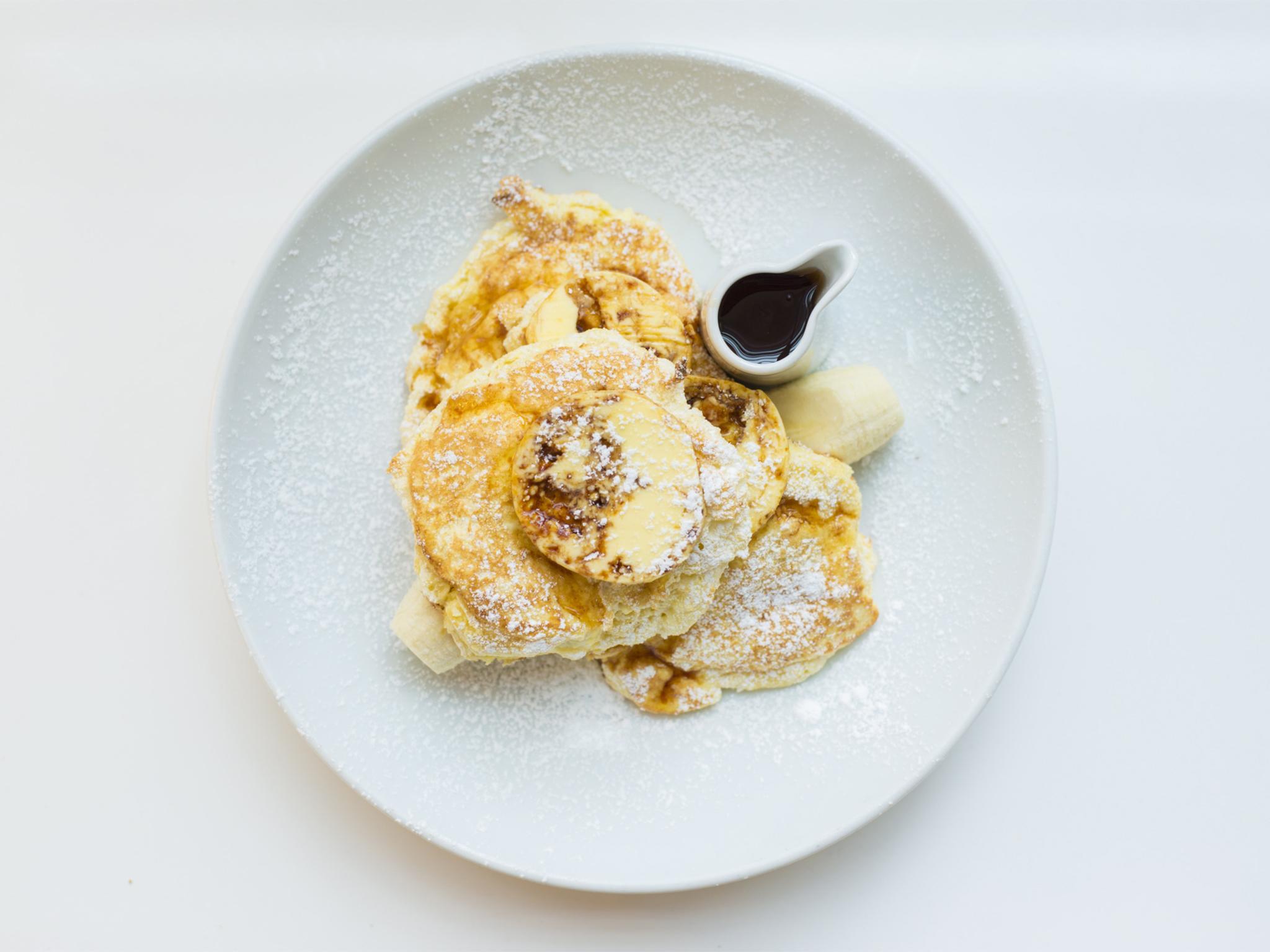 Ricotta hotcakes at Granger & Co