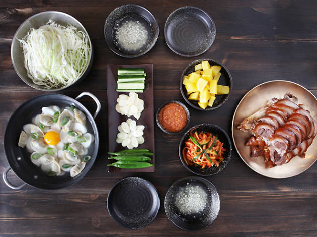 A world of Korean food