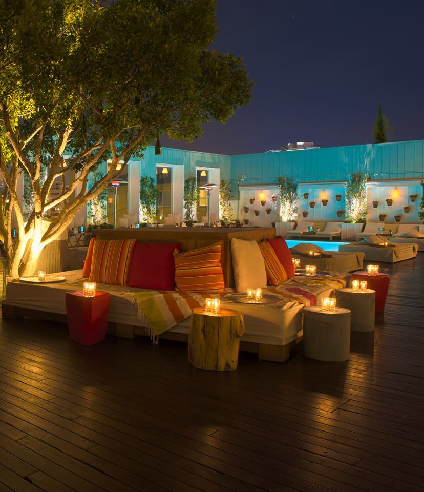 Watch classic flicks from a rooftop pool
