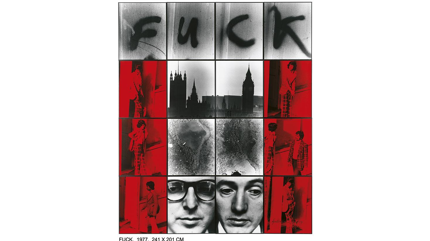 Gilbert & George, Fuck, 1977