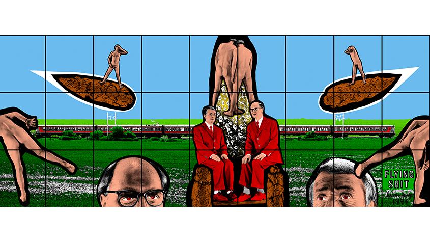 Gilbert & George, Flying Shit, 1994