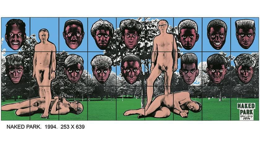 Gilbert & George, Naked Park, 1994