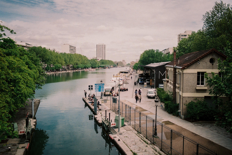Les péniches du canal de l'Ourcq