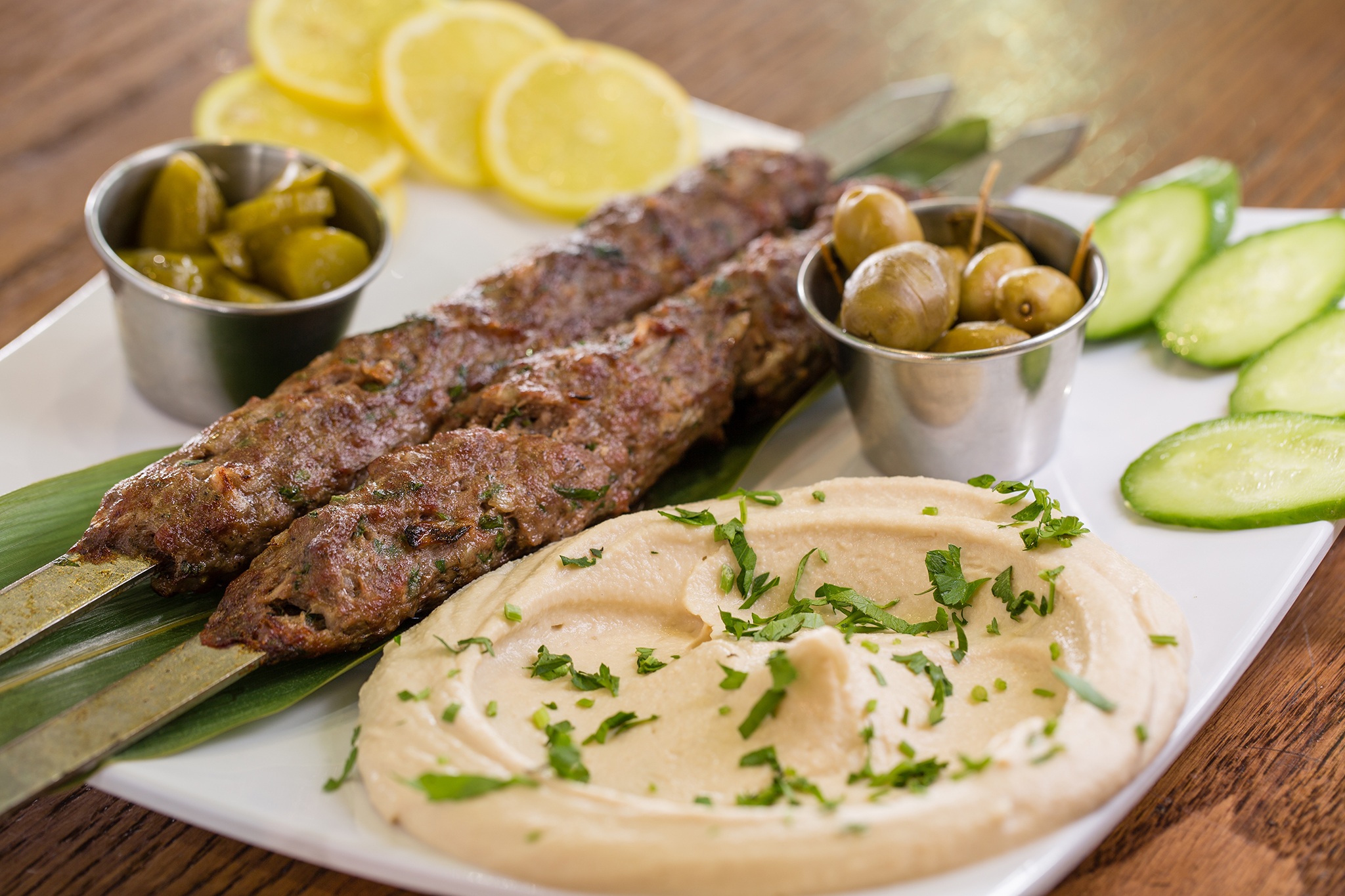 Lamb skewers at Itzik Hagadol