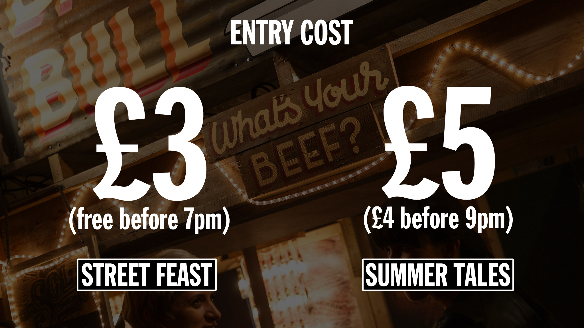 Street food infographic –cost