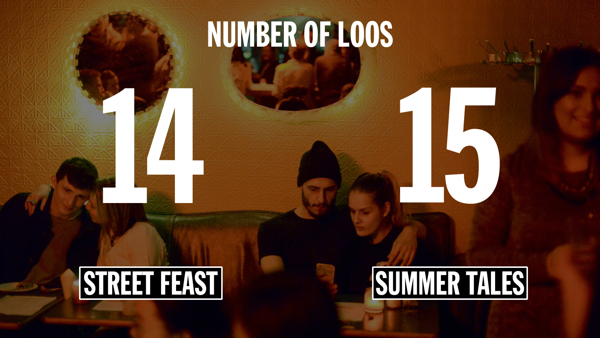 Street food infographic –loos