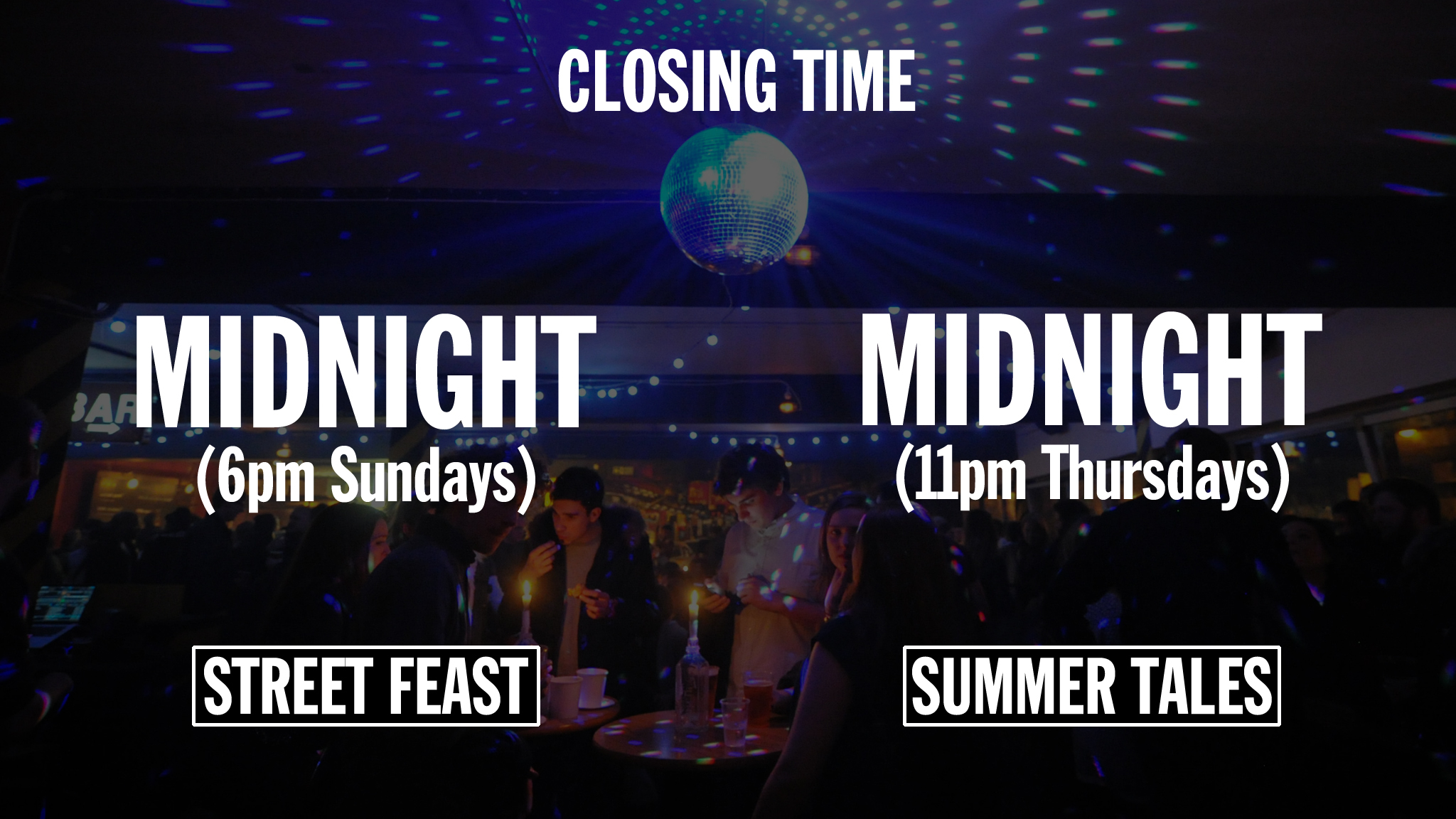 Street food infographic – closing time