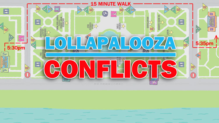 7 conflicts on the Lollapalooza schedule