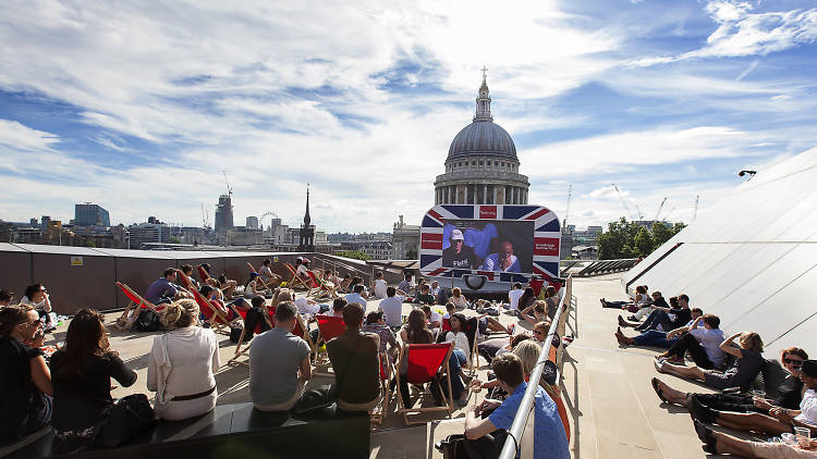 Great British Summer Outdoor Screens at One New Change
