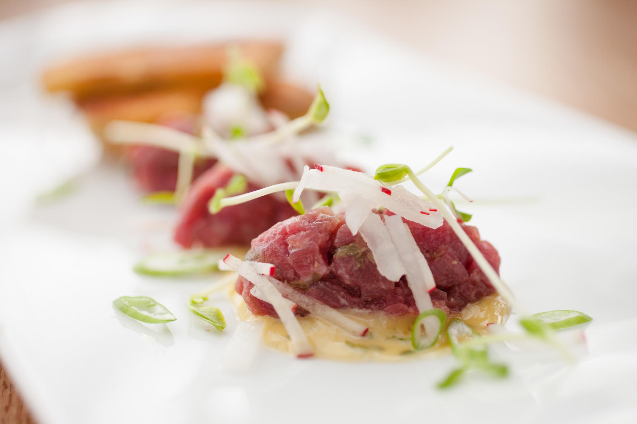 Beef tartare at Taus Authentic