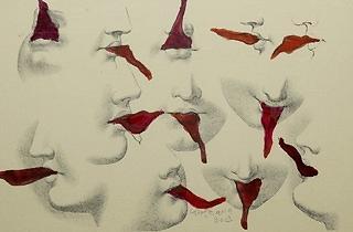 (Carol Rama, 'Lusinghe', 2003 / Collection Charles Asprey, Londres / © Photo Andy Keate / © Archivio Carol Rama, Turin)
